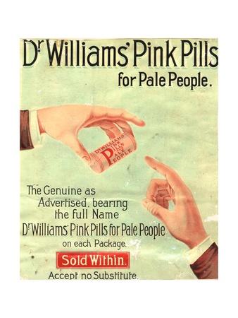 Dr Williams Pin Pills Medical Medicine, UK, 1890