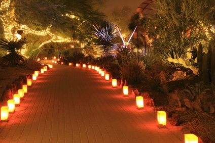 Romantic Outdoor Path Lighting for Parties