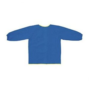 "Chenille Kraft CK-520802 Creativity Street Sleeve Art Smock, 0.38"" Height, 9"" Wide, 6.25"" Length, Long, Blue"