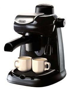 DeLonghi EC5 Steam-Driven 4-Cup Espresso and Coffee Maker, Black