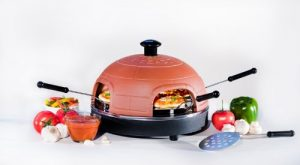 PizzaDome PD401 4-Person Portable Italian Brick/Terra-Cotta Oven