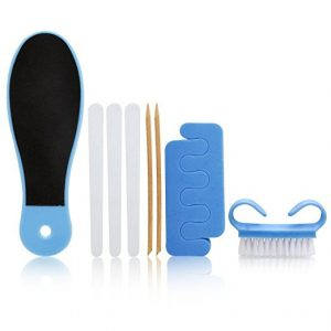 Bath Accessories 8 Piece Pedicure Set, Blue