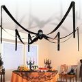 McToy Hanging Halloween Plastic Spider, 20 Foot, Black