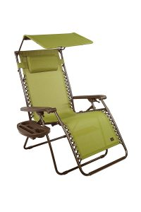 Bliss Hammocks Gravity Free X-Wide Recliner with Canopy Shade and Cup Tray