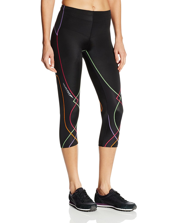 CW-X Conditioning Wear Women's 3/4 Length Stabilyx Tights, Black