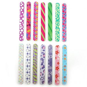 New 12 Double Sided Nail File Emery Board Manicure Pedicure Gift Set Design 7
