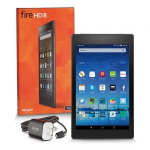 "Fire HD 8 Tablet, 8"" HD Display, Wi-Fi, 8 GB - Includes Special Offers, Black (Previous Generation - 5th)"