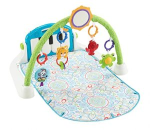 Fisher-Price First Steps Kick and Play Piano Gym, White
