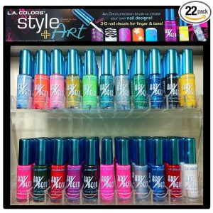 L.A. Colors Nail Art - Art Deco Nail Polish - Original 22 pc. Set