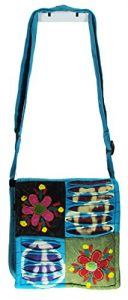 Passport Bag Handmade in Nepal Turquoise