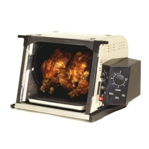 Ronco ST3001SSGEN Showtime Compact Rotisserie and Barbeque Oven, Stainless Steel