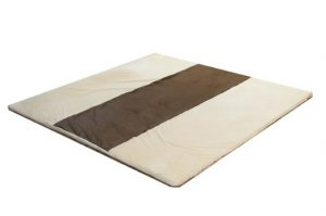"""Snug Square Play Mat - Large 55"""" Ultra-Comfortable, Plush Foam Playmat for Baby, Toddler, and Children with Bonus Carry Case (Cream-Espresso)"""