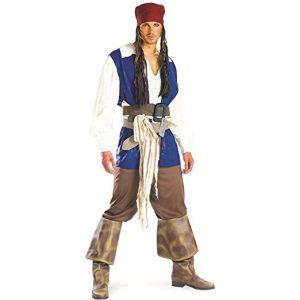 Blue Jack Sparrow Pirate Costume