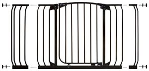 Dreambaby Pressure Mount Hallway Gate with Extensions, Black