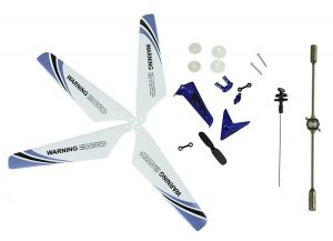 Tail Decorations, Tail Props, Balance Bar, Gear Set, Connect Buckle-Blue Set for Syma S107 RC Helicopter