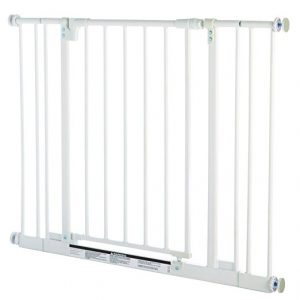 """Easy Close Gate, White, Fits Spaces between 28"""" to 38.5"""" Wide and 29""""high"""