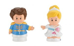 Fisher-Price Little People Disney Princess Prince Charming & Cinderella Figures