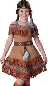 InCharacter Costumes Girl's Indian Maiden Costume, Tan, 4