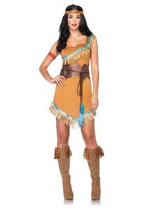 Leg Avenue Disney 3Pc. Pocahontas Costume Includes Dress Belt and Headband
