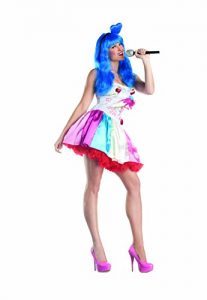Katie Perry blue wig