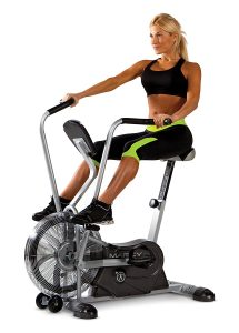 Marcy Exercise Upright Fan Bike with Transport Wheels AIR-1