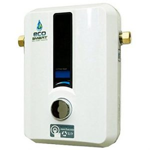 Ecosmart ECO 11 Electric Tankless Water Heater Review The Ecosmart Eco is one of the most in-demand electric tankless water heaters currently on the market. This is due to a variety of reasons including its price, cost-saving measures and its size. However, does the Ecosmart 11 warrant this accolade of being one of the best. This review will find out. We reviewed this electric water heater by replacing a tank electric heater that was over 5 years old and starting to show its age. Size and Performance Th Ecosmart ECO 11 electric tankless water heater is a very compact powerful piece of equipment that is capable of heating 2 gallons of water per minute. This is a fairly decent rate making the water heater ideal for homes with 2 bathrooms. The appliance also contains a Digital Temperature Control that allows you to change the water Ecosmart 11 Tankless water heater comparison temperature in increments of 1 Degree which made was for myself as I prefer my water temperature to be exactly how I like it. There is nothing than a shower that is too hot or too cold making for a terrible shower experience that doesn't make you feel entirely clean. However, the tankless water heater is also capable of heating water for your sink be it in your bathroom or your kitchen. Hot water can be provided throughout the household instantly and on demand. Where once your tank water heater would take up your entire cupboard, the Ecosmart Eco 11 takes up just a tiny space on the wall with very few tubes and wires. Powered by 11Kw and 220 Volts this device will provide hot water whenever and wherever. Money Saving Compared to my previous electric tank water heater I had projected I would save $300 per year in my water heating bills. This astounded me as I was not expecting this cost-saving otherwise I would have purchased this tankless water heater earlier. The price is also low up front too. For just under $300, this easy to install device has already saved me money. This is due to the fact th