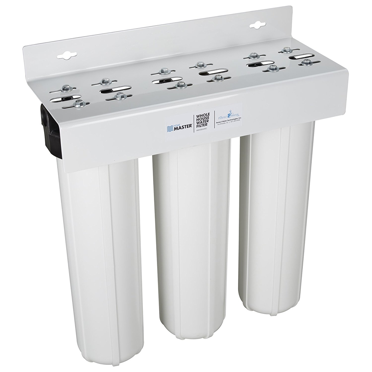 Home Master HMF3SDGFEC Whole House 3-Stage Water Filter with Fine Sediment, Iron, and Carbon