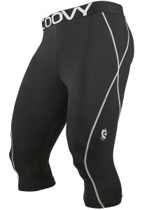 Mens COOVY Sports Base Layer 3/4 Long Tights: Lightweight or Midweight Style