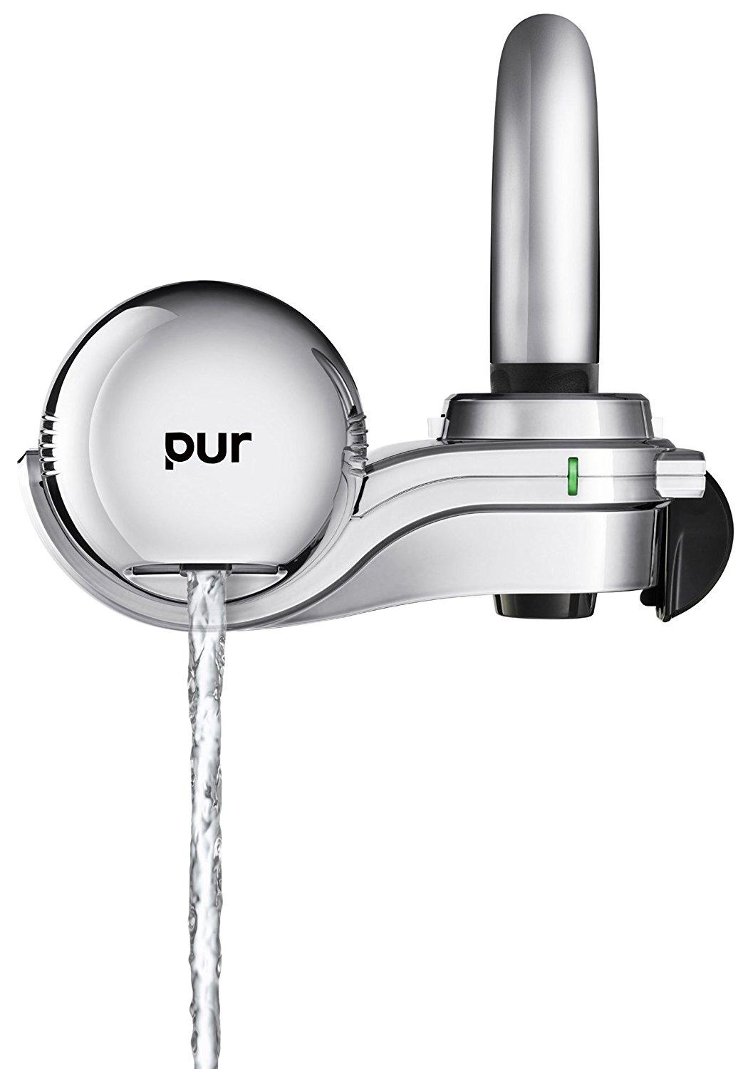 PUR 3-Stage Horizontal Water Filtration Faucet Mount Chrome