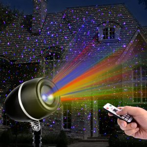 Clustars Outdoor Christmas Laser Lights Projector with Remote Control