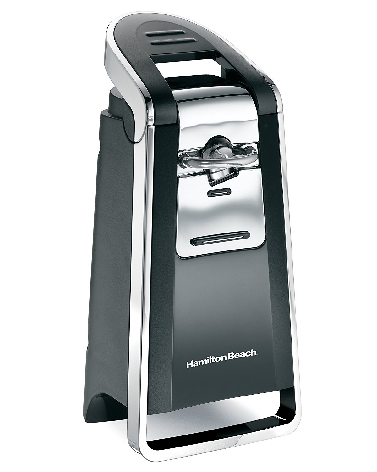 Hamilton Beach Smooth Touch 76606Z Can Opener, Black, and Chrome