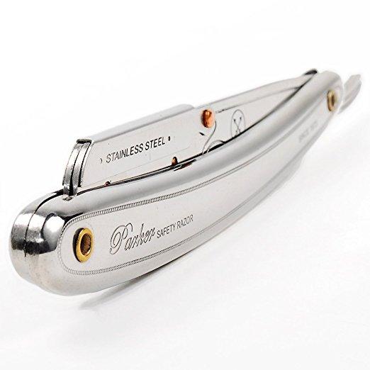 Parker SR1 Stainless Steel Straight Edge Razor