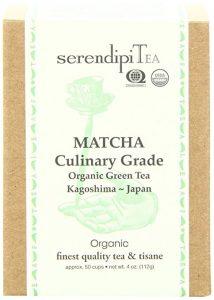 SerendipiTea Matcha Culinary Grade, Organic Green Tea, 4-Ounce Box