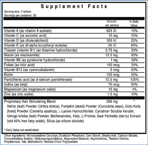 Ultrax Labs Hair Maxx Supplement Facts