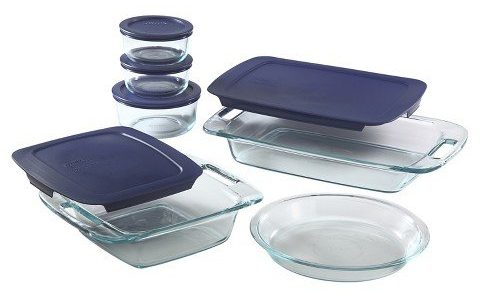 Pyrex Easy Grab 11 piece Bake and Store set includes