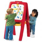 Best Art easels For Toddlers-Kid's Wooden Standing Art Easels