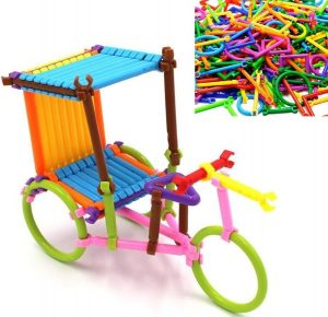 ArRord 205Pcs Bars Multiple Colors Shape Creative Toys