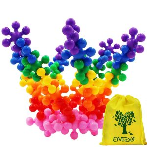 EMIDO Building Blocks Kids Educational Toys STEM Toys Building Discs Sets Interlocking Solid Plastic for Preschool Kids Boys and Girls, Safe Material for...
