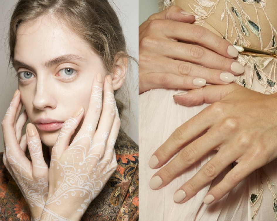 Nude colored nails