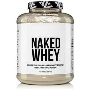NAKED WHEY 5LB 100% Grass Fed Whey Protein Powder - US Farms, #1 Undenatured, Bulk, Unflavored - GMO, Soy, and Gluten Free - No Preservatives - Stimulate...