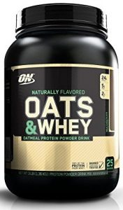 Optimum Nutrition Oats and Whey Protein Powder, Naturally Flavored Milk Chocolate, 3 Pound