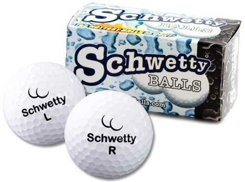 Pair of Schwetty White Balls Golf Balls