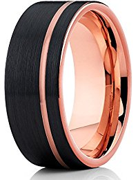 Silly Kings 8mm Rose Gold Tungsten Ring