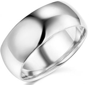 14k Yellow OR White Gold 8mm SOLID COMFORT FIT Plain Wedding Band