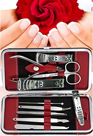 10 Piece Stainless Steel Manicure Kit