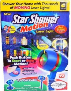 Buy Star Shower As Seen on TV Motion Laser Lights Star Projector