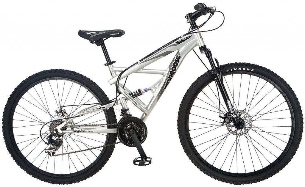 Mongoose Sector Mens Dual Suspension Mountain Bike