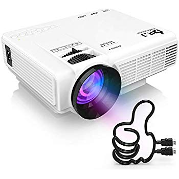 DR. J Professional HI-04 1080P Supported 4Inch Mini Projector