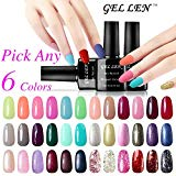 Gellen Pick Any 6 Colors Soak Off Gel Nail Polish 300 Colors