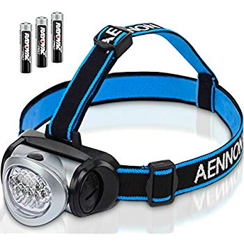 LED Headlamp Flashlight with Red Lights for Running, Camping, Reading